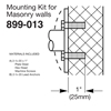 Bradley Concealed Mounting Kits for Masonry Walls - 899-013