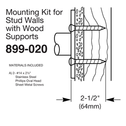 Mounting kit for Stud Walls