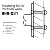 Bradley Exposed Mounting Kits for Partition Walls - 899-021