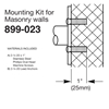 Bradley Exposed Mounting Kits for Masonry Walls - 899-023