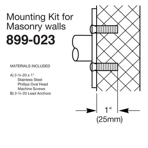 Mounting Kit for Masonry Walls