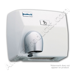Bradley Sensor Operated Surface Mounted Hand Dryer 2870-000000 Bradley Hand Dryer, Cast Iron cover, Sensor operated, Surface Mounted