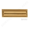 "Brass Accents 3.625"" x 13"" Mail Slot - PVD ""Lifetime Polished Brass"""