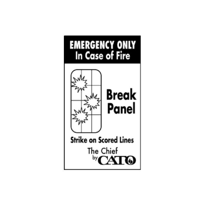Cato Chief Plastic Fire Extinguisher Cabinet Red Ca 1