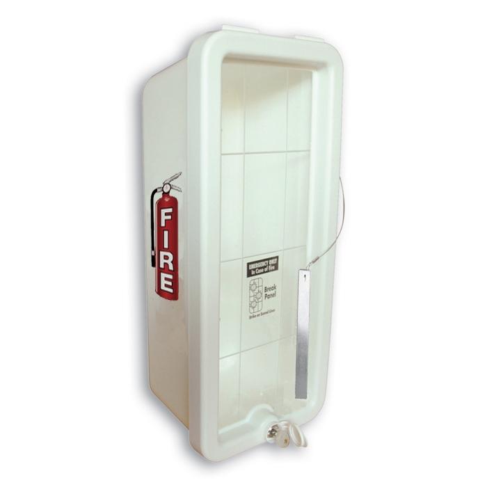 Cato Chief Plastic Fire Extinguisher Cabinet White Ca 1