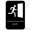 California Approved ADA Exit Sign Black