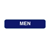 California Approved Men Braille Restroom Sign