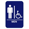 California Approved Men Handicap ADA Restroom Sign