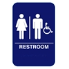 California Approved Unisex Handicap ADA Restroom Sign