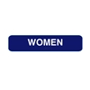 California Approved Women Braille Restroom Sign