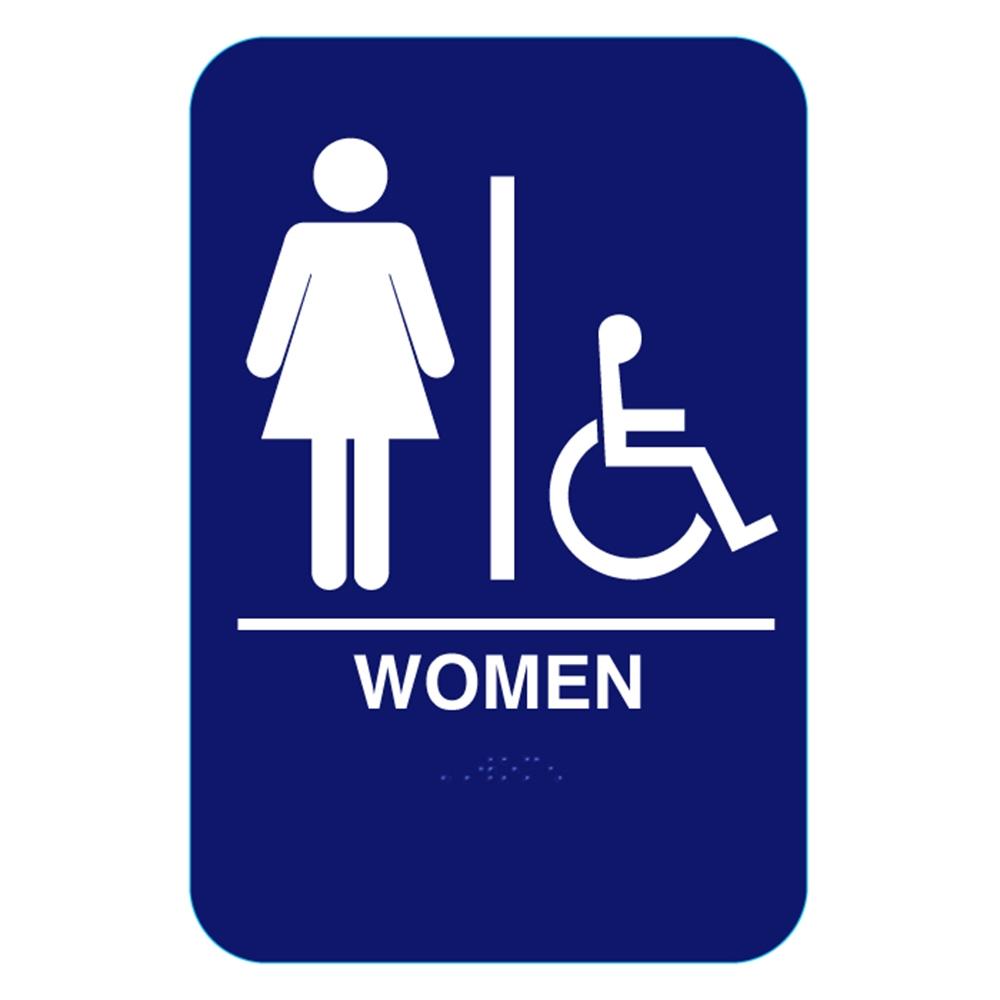 California Approved Women Handicap Ada Restroom Sign Cr