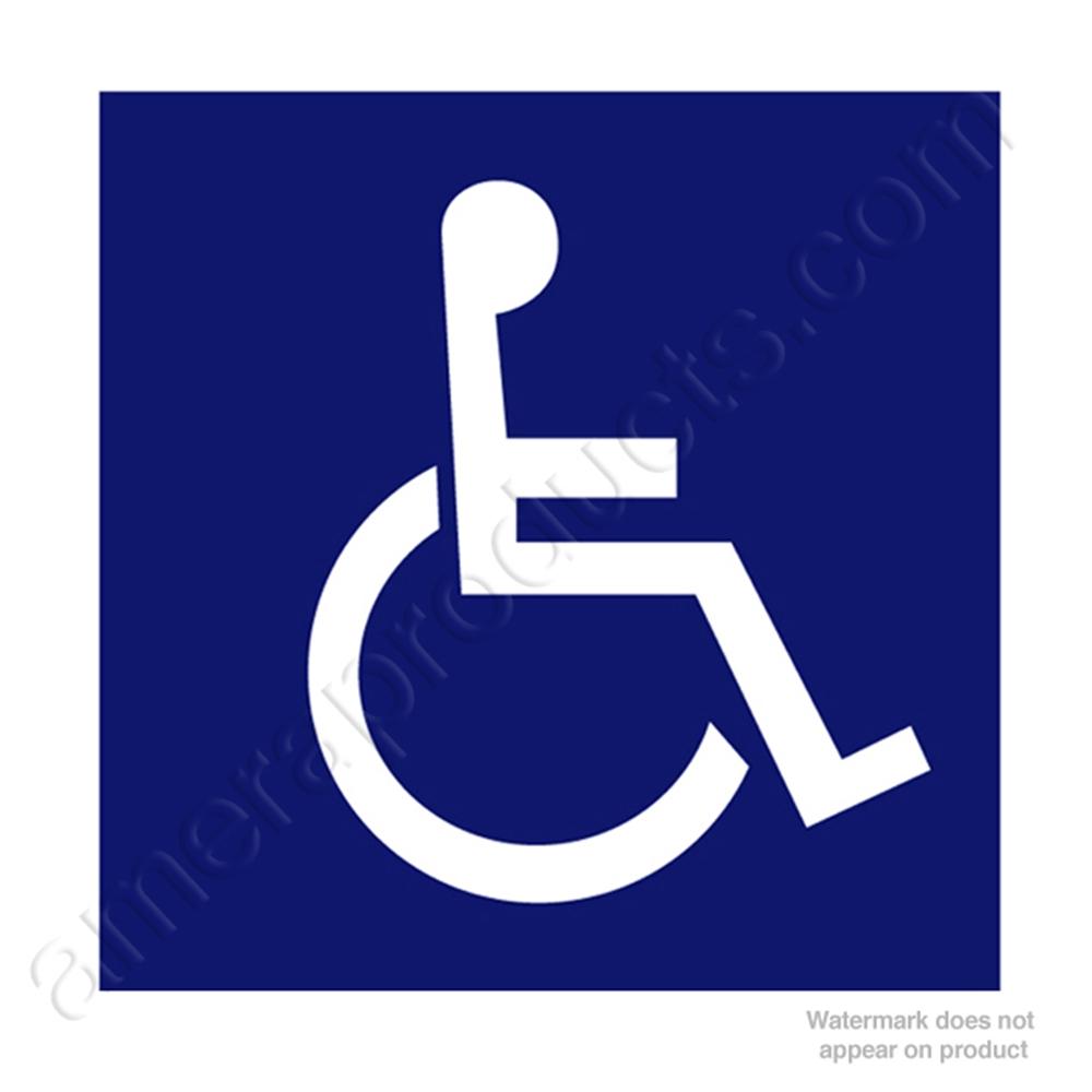 plastic sign and handicap logo cr chs 9