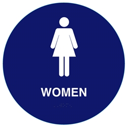 California Women Restroom Sign