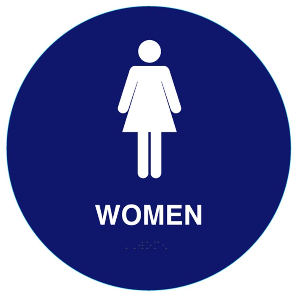 Raised Women California Title 24 Ada Restroom Sign Cr Whs 5