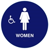 Raised Handicap Women California Title 24 ADA Restroom Sign