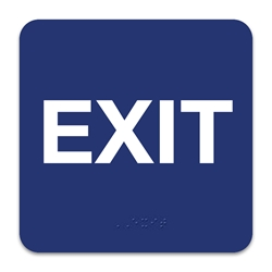 Exit with Braille
