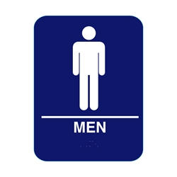 Mens Restroom Sign