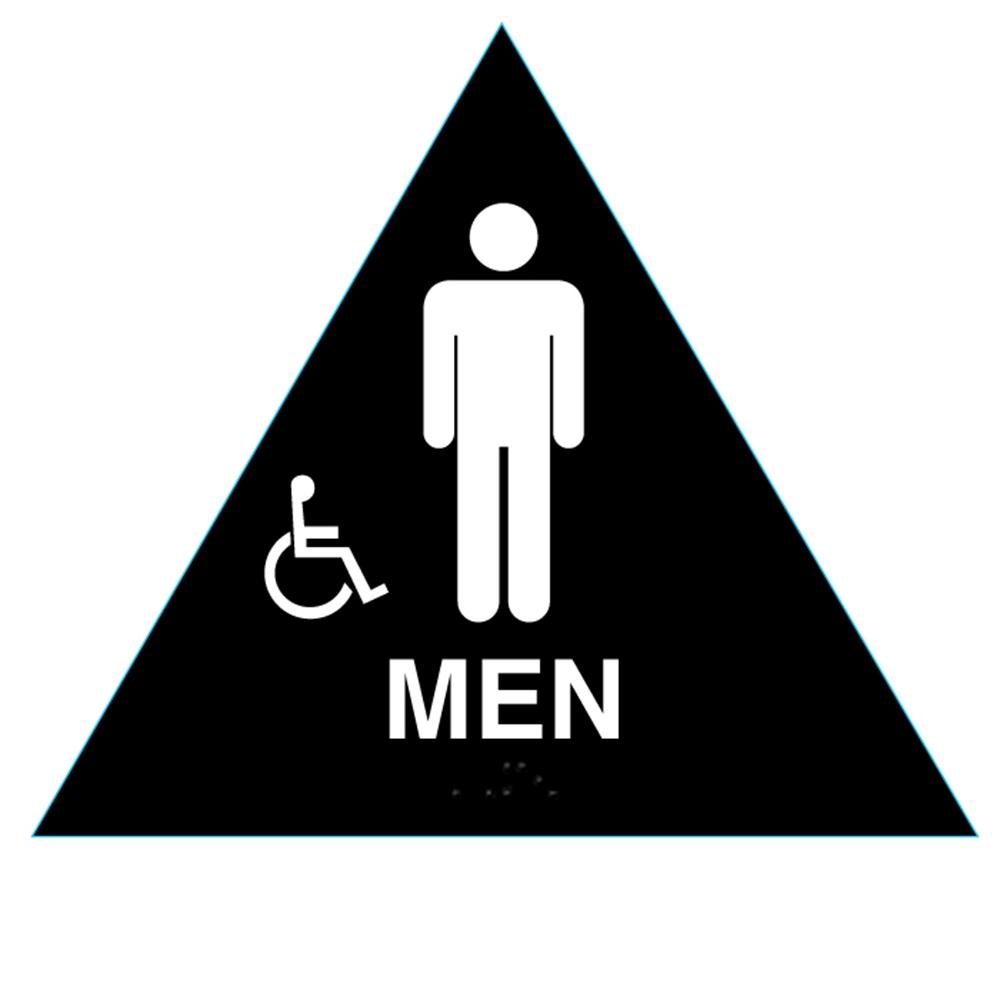 Raised Handicap Men California Title 24 Ada Restroom Sign