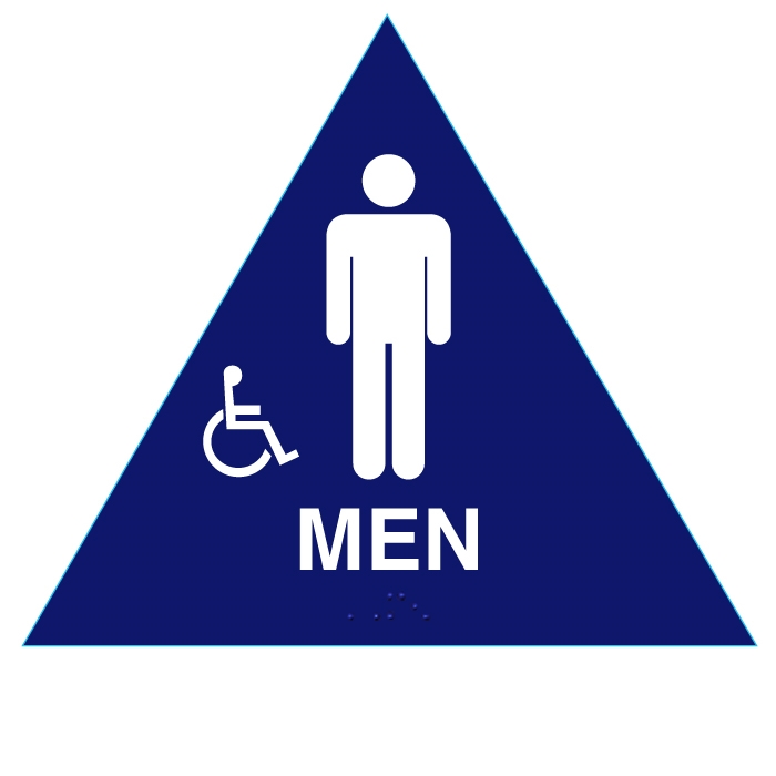 Raised Braille Men California Approved Title 24 Ada