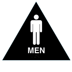 Men Title 24 Restroom Sign