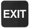 Exit With Braille Black