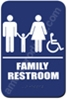 Restroom Sign Family Handicap Blue 1536 restroom sign Family, Family restroom sign, ADA unisex restroom sign