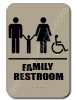 Restroom Sign Family Handicap Taupe 2336 restroom sign Family, Family restroom sign, ADA unisex restroom sign