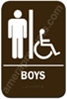 Restroom Sign Handicap Boys Brown 3812 restroom sign Boys handicap, handicap Boys restroom sign, Boys mens restroom sign handicap