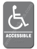 Handicap Sign Grey 4410 Handicap sign , ADA Handicap  sign