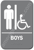 Restroom Sign Handicap Boys Grey 4412 handicap restroom sign Boys , Boys handicap restroom sign, ADA mens restroom handicap sign