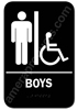 Restroom Sign Handicap Boys Black 5312 restroom sign handicap Boys , Boys handicap restroom sign, ADA Boys restroom sign