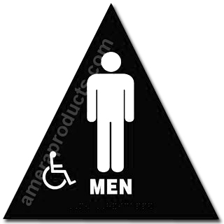 Men's Handicap Title 24 Restroom Sign