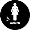 California Title 24 Restroom Sign Women Handicap Black 5324 California Title 24 restroom sign Women handicap, Women restroom sign, California Title 24 ADA Women handicap restroom sign