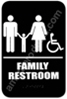 Restroom Sign Family Handicap Black 5336 restroom sign Family, Family restroom sign, ADA unisex restroom sign