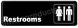 Restroom Sign Black 5506