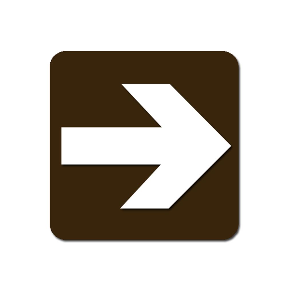 Arrow Sign Ep3861 White On Dark Brown Bp3861