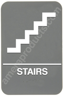 Stairs Sign Grey 4409 restroom sign women, womens restroom sign, ADA womens restroom sign
