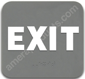 Exit Sign Grey 4411 Exit sign, ADA Exit sign