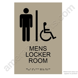 Mens Locker Room Sign Taupe