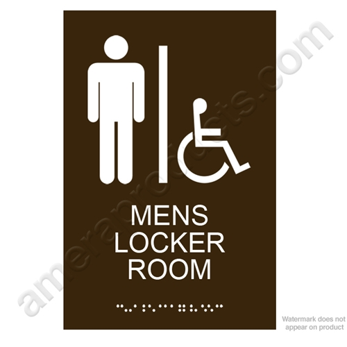 Brown Men's Locker Room Sign