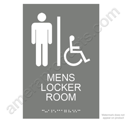 Gray Mens Locker Room Sign