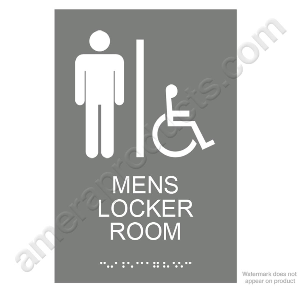 Men S Locker Room Sign Ep4446 White On Gray Ep4446