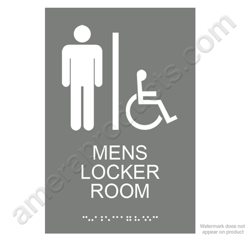Gray Men's Locker Room Sign