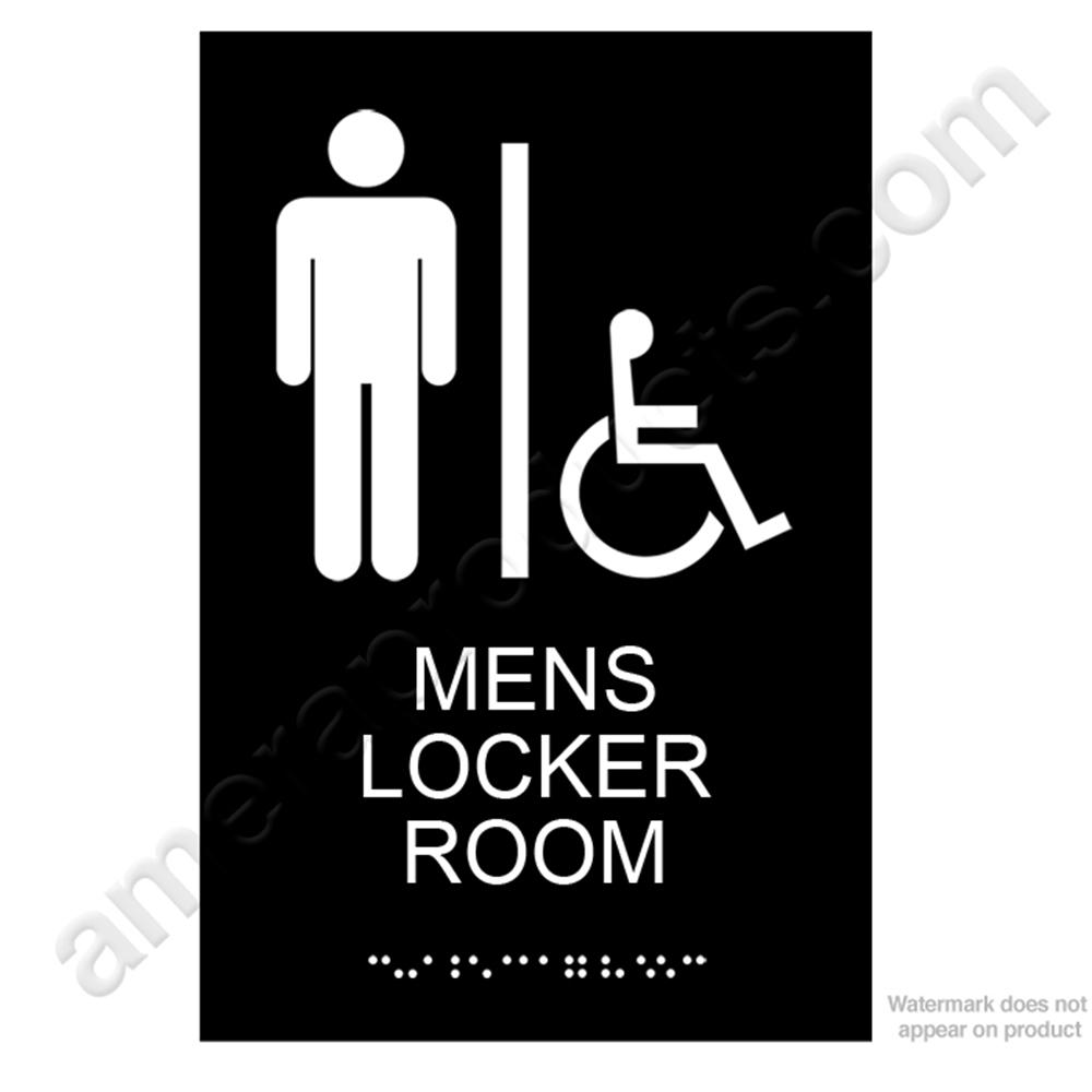 Men S Locker Room Sign Ep5346 White On Black Ep5346
