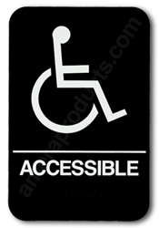 Restroom Handicap Sign in Black 5310 black hHandicap sign, black ADA handicap sign