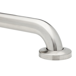 No Drilling Required Brushed Stainless Steel Grab Bar 1½""
