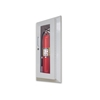 JL Decorline Series 5017G20 Semi-Recess Mounted 5lb. Fire Extinguisher Cabinet with Safety Lock