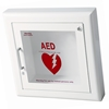 JL 1417G12 Semi-Recessed Mounted AED Cabinet with Lock