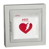 JL 1427G12 Semi-Recessed Mounted Aluminum AED Cabinet with Lock