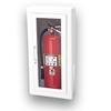 JL Ambassador 1017G10 Semi-Recessed 10 lbs. Fire Extinguisher Cabinet with Lock